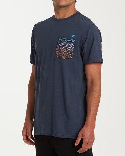 1 Team Pocket Short Sleeve T-Shirt Blue M433WBTP Billabong