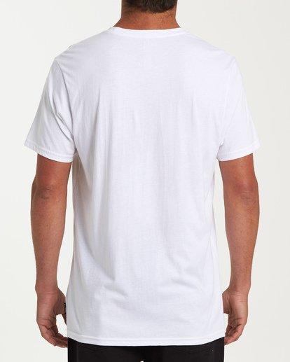 2 Team Pocket Short Sleeve T-Shirt White M433WBTP Billabong