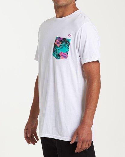 1 Team Pocket Short Sleeve T-Shirt White M433WBTP Billabong