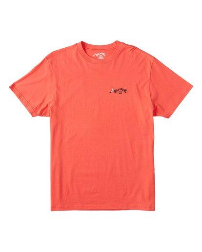 3 Truffula Fade T-Shirt Red M4352BTF Billabong