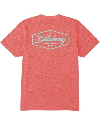 1 Trademark T-Shirt Red M4383BTM Billabong