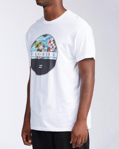 1 Florida Eclipse Short Sleeve T-Shirt White M4534EFL Billabong