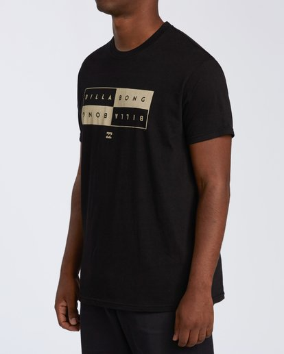 1 Opposite Short Sleeve T-Shirt Black M4601OPM Billabong