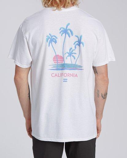 2 RT-Cruiser California Short Sleeve T-Shirt White M4602BCI Billabong