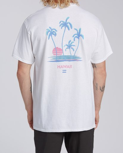 2 Cruiser Hawaii Short Sleeve T-Shirt White M4602BCR Billabong