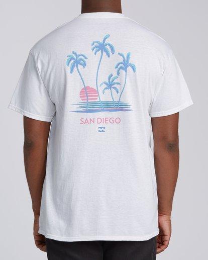 2 Cruiser San Diego Short Sleeve T-Shirt Wht White M4602BCS Billabong