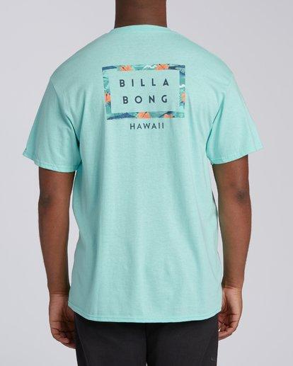 2 Diecut Hawaii Short Sleeve T-Shirt Grey M4602BDI Billabong