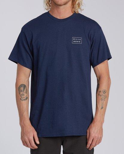 2 EC-Diecut 1 Short Sleeve T-Shirt Blue M4602BED Billabong