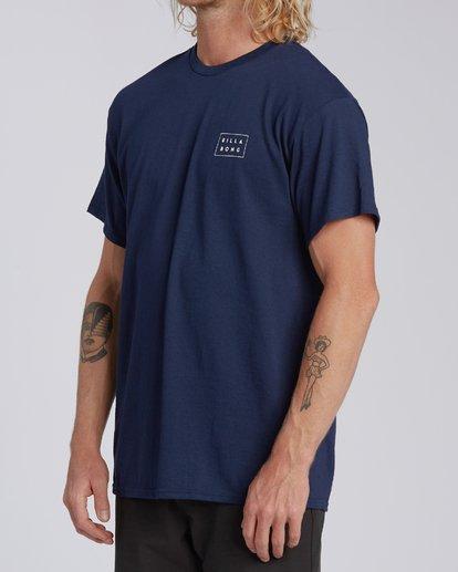 3 EC-Diecut 1 Short Sleeve T-Shirt Blue M4602BED Billabong