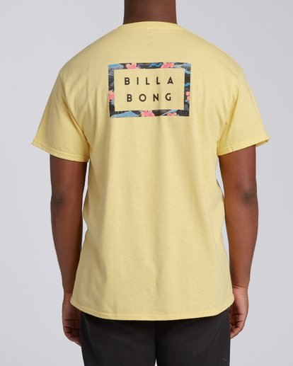 2 EC-Diecut 2 Short Sleeve T-Shirt Yellow M4602BEI Billabong