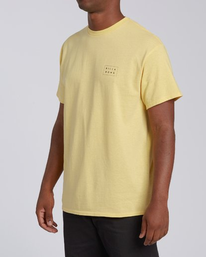 1 EC-Diecut 2 Short Sleeve T-Shirt Yellow M4602BEI Billabong