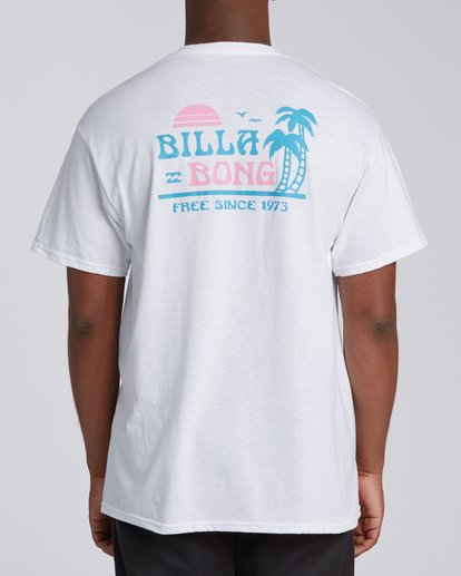 4 EC-Lounge Short Sleeve T-Shirt White M4602BEL Billabong
