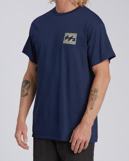 1 EC-Nosara 1 Short Sleeve T-Shirt Blue M4602BEN Billabong