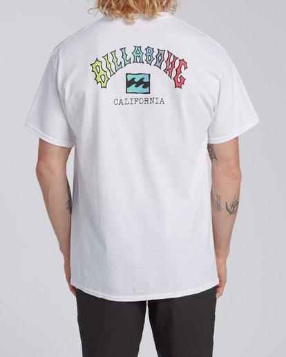 2 Arch California Short Sleeve T-Shirt White M4602BRH Billabong