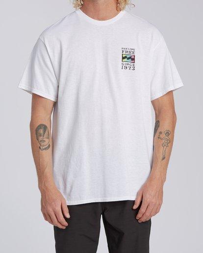 0 Arch California Short Sleeve T-Shirt White M4602BRH Billabong