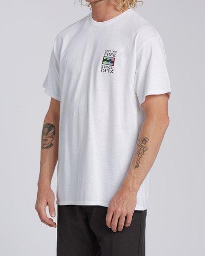 1 Arch California Short Sleeve T-Shirt White M4602BRH Billabong