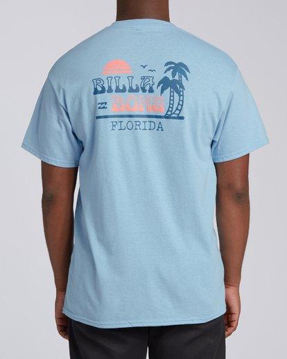 2 Lounge Florida Short Sleeve T-Shirt Blue M4602BRO Billabong