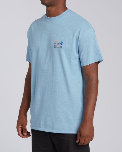 1 Lounge Florida Short Sleeve T-Shirt Blue M4602BRO Billabong