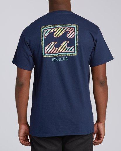 2 Nosara 1 Florida Short Sleeve T-Shirt Blue M4602BRS Billabong