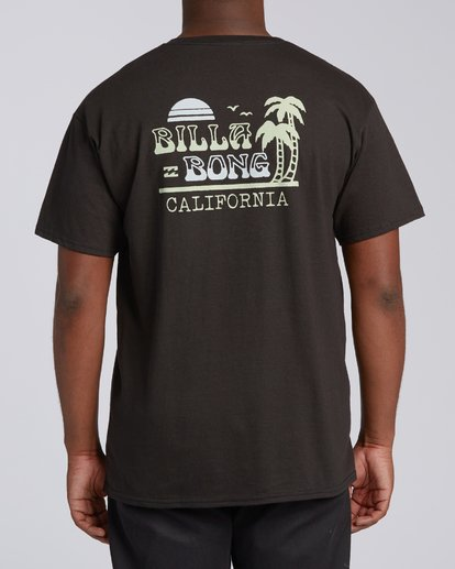 2 Lounge California Short Sleeve T-Shirt Black M4602BRU Billabong