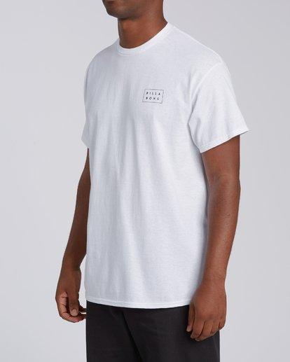 1 Diecut 2 California Short Sleeve T-Shirt White M4602BRZ Billabong
