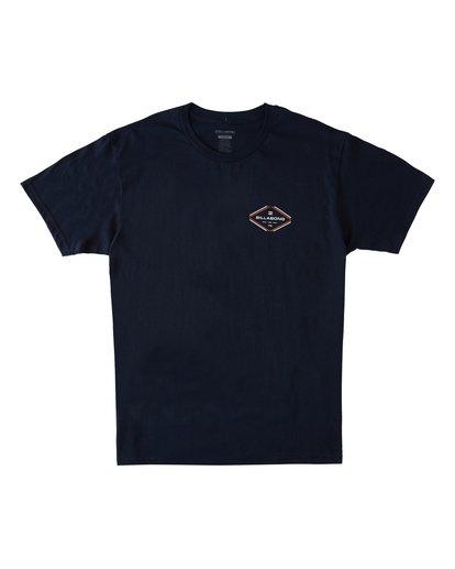 3 Triangular Short Sleeve T-Shirt Blue M4602BTR Billabong