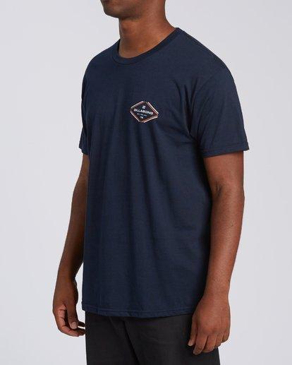1 Triangular Short Sleeve T-Shirt Blue M4602BTR Billabong