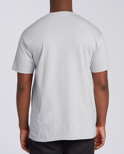 2 Stacked Short Sleeve T-Shirt Grey M4603BVD Billabong