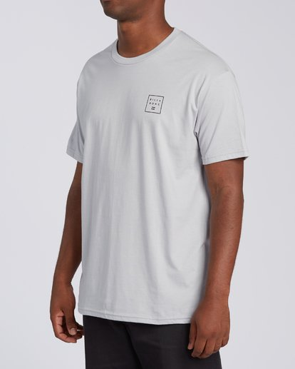 1 Stacked Short Sleeve T-Shirt Grey M4603BVD Billabong
