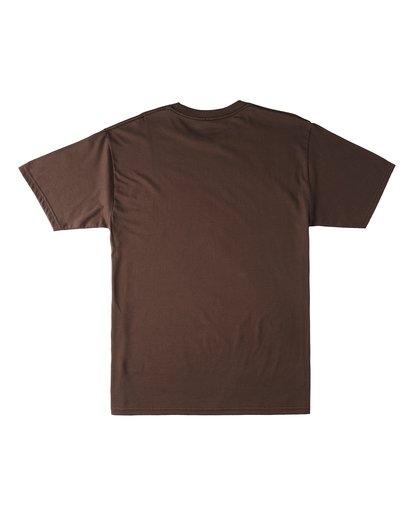 1 Sign Short Sleeve T-Shirt Brown M4603BVL Billabong
