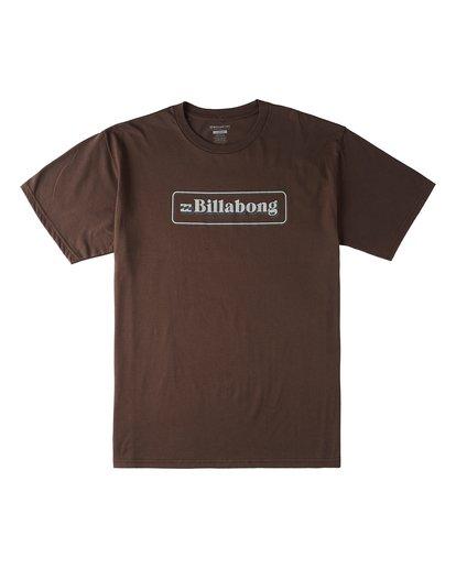 0 Sign Short Sleeve T-Shirt Brown M4603BVL Billabong