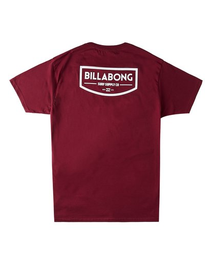 1 Supply Co Short Sleeve T-Shirt Red M4603BVN Billabong