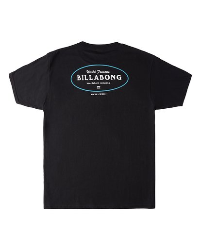1 Famous Short Sleeve T-Shirt Black M4603BVW Billabong