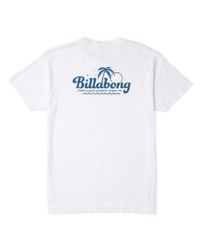 4 Lounge Short Sleeve T-Shirt White M460VBLO Billabong