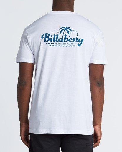 2 Lounge Short Sleeve T-Shirt White M460VBLO Billabong