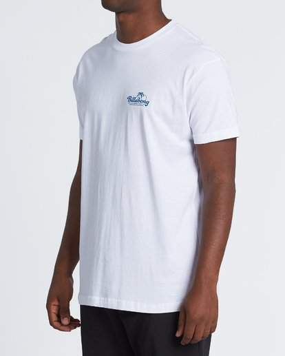 1 Lounge Short Sleeve T-Shirt White M460VBLO Billabong