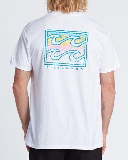 2 Crayon Wave Short Sleeve T-Shirt White M460WBCR Billabong