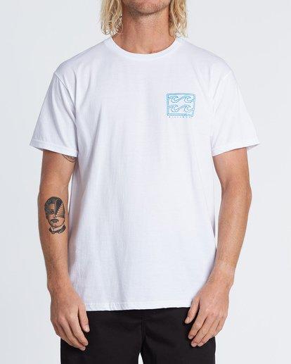 0 Crayon Wave Short Sleeve T-Shirt White M460WBCR Billabong