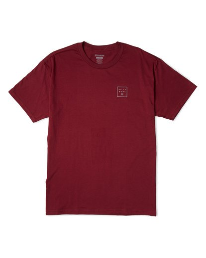 3 Stacked Essential Short Sleeve T-Shirt Red M460WBSE Billabong