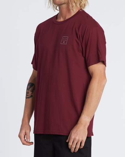 1 Stacked Essential Short Sleeve T-Shirt Red M460WBSE Billabong