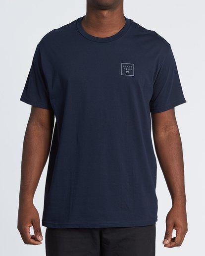 0 Stacked Essential Short Sleeve T-Shirt Blue M460WBSE Billabong