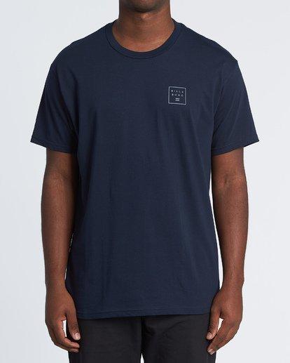 3 Stacked Essential Short Sleeve T-Shirt Blue M460WBSE Billabong