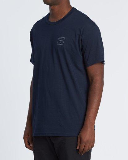 1 Stacked Essential Short Sleeve T-Shirt Blue M460WBSE Billabong