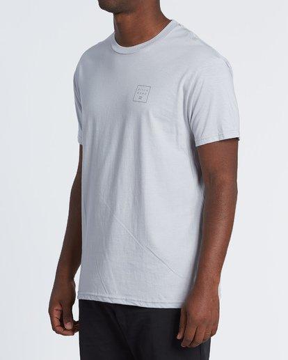 1 Stacked Essential Short Sleeve T-Shirt Grey M460WBSE Billabong