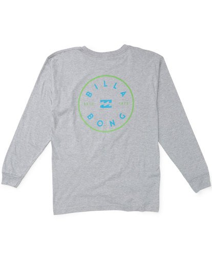 1 Rotor Long Sleeve T-Shirt Grey M470TROE Billabong