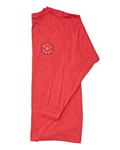 2 Rotor Long Sleeve T-Shirt Red M470TROE Billabong