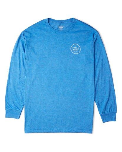 3 Rotor Essntial Long Sleeve T-Shirt Blue M470WBRO Billabong
