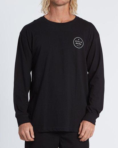 0 Rotor Essntial Long Sleeve T-Shirt Black M470WBRO Billabong