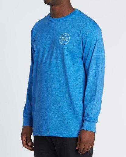 1 Rotor Essntial Long Sleeve T-Shirt Blue M470WBRO Billabong