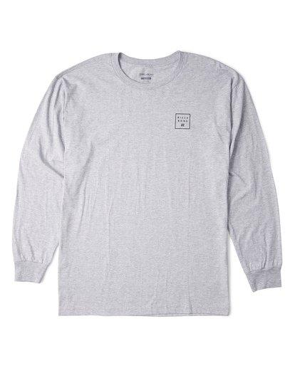 2 Stacked Essential Long Sleeve T-Shirt Grey M470WBSE Billabong